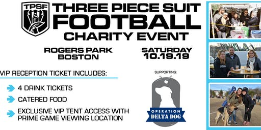 VIP Reception Ticket - Three Piece Suit Football Boston 2019 Charity Event