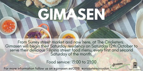 Gimasen - Launch of Saturday  Kitchen Residency at The Cricketers [LUNCH] tickets