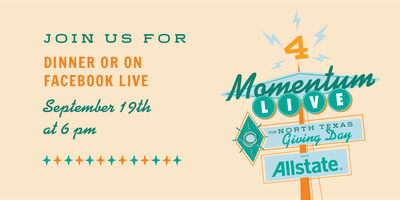 Cafe Momentum Presents: Momentum Live! on North Texas Giving Day