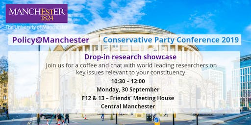 Drop-in research showcase from The University of Manchester