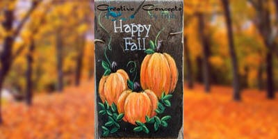 Happy Fall Slate Paint Night