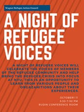 A Night of Refugee Voices tickets