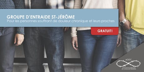 AQDC : Groupe d'entraide St-Jérôme - 10 octobre 2019 billets
