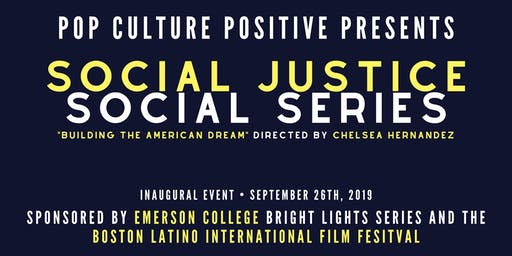 Pop Culture Positive Presents: Social Justice Social Series Night One