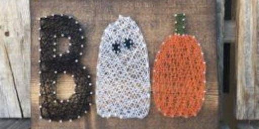 Boo's and Booze: String Art - Boo or Pumpkin!