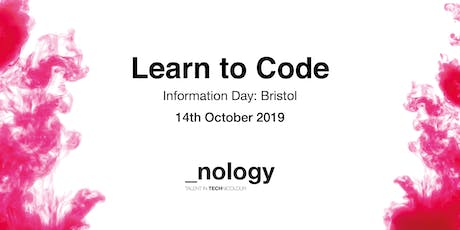 Learn to Code: Information Day - Bristol 14/10/19 tickets