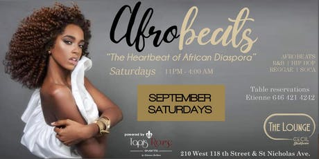 AFROBEATS SATURDAYS! FIRST 100 LADIES ARE FREE WITH RSVP tickets