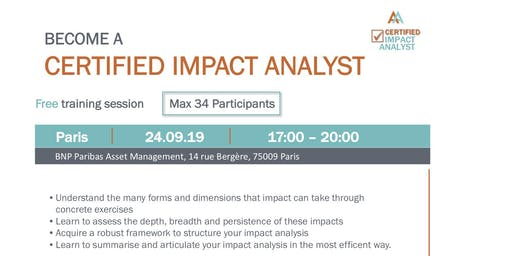 Certified Impact Analyst free training session Paris