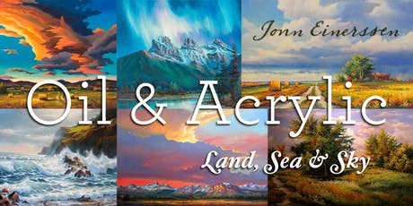 Land, Sea and Sky • 2019 Painting Workshop + Demo with Jonn Einerssen (Oil or Acrylic) tickets