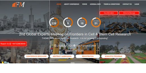 2nd Global Experts Meeting on Frontiers in Cell & Stem Cell Research