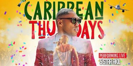 "Caribbean Thursdays ""5 STAR AKIL"" Performing Live 26th September. tickets"