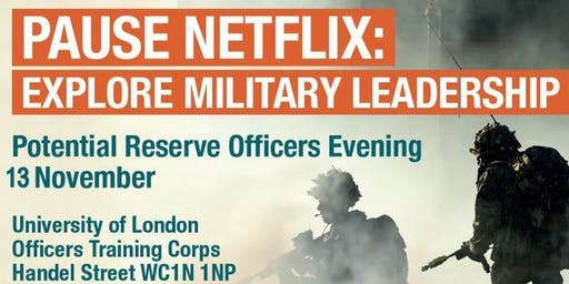 Potential Reserve Officers Open Evening