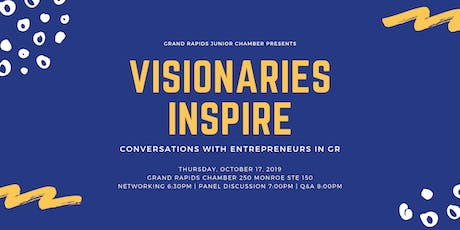 Visionaries Inspire: Entrepreneurs in GR tickets