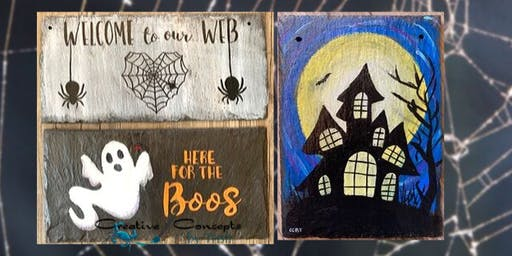 Spooky Slate Paint Night