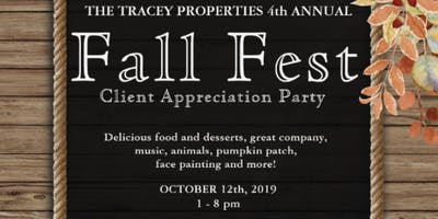 Fall Fest 2019 - Tracey Properties Client Appreciation Party