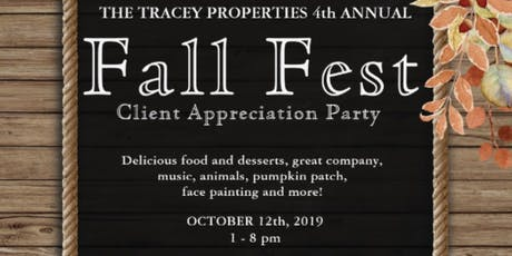 Fall Fest 2019 - Tracey Properties Client Appreciation Party tickets