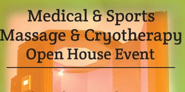 Medical & Sports Massage & Cryotherapy Open House Event
