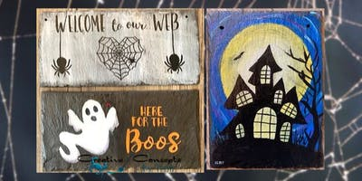 Spooky Slate Paint Night