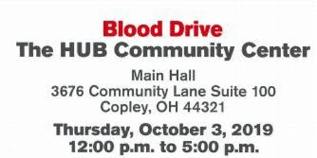 Red Cross Community Blood Drive at The HUB Community Center tickets