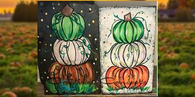 Pumpkin Stack Slate Paint Night