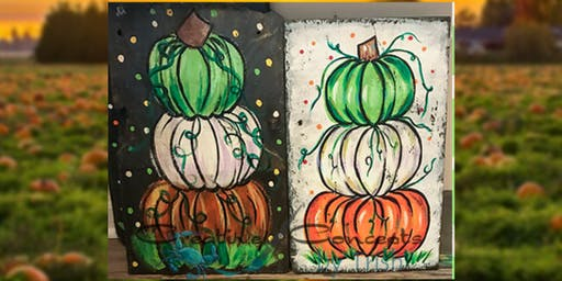Pumpkin Stack Slate Paint Night