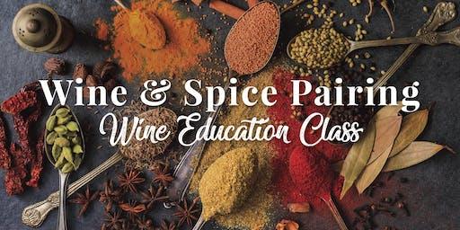 Wine & Spice Pairing