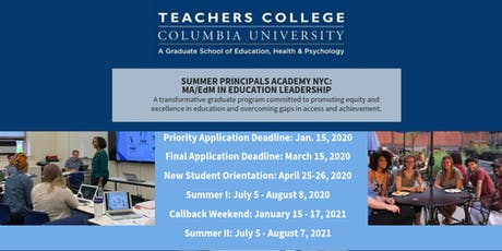 Summer Principals Academy Information Session: Albany tickets