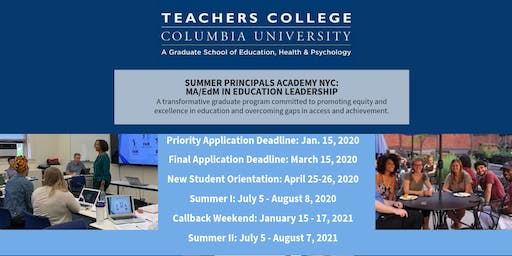 Summer Principals Academy Information Session: Albany