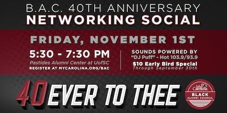 Black Alumni Council 40th Anniversary Networking Social tickets