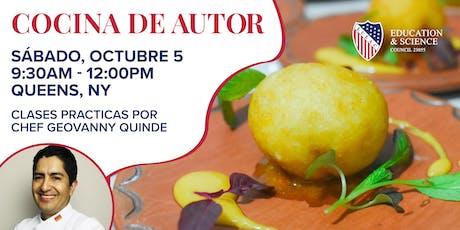 COCINA DE AUTOR/ CLASES PRACTICAS Chef Geovanny Quinde tickets