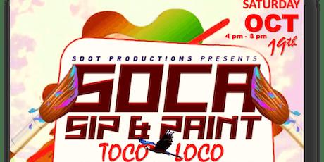 Soca Sip & Paint tickets