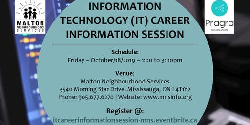 Information Technology (IT) Career Information Session