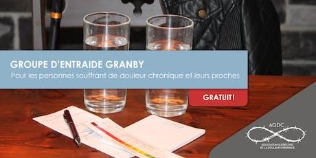 Groupe d'entraide Granby - 18 octobre 2019 billets