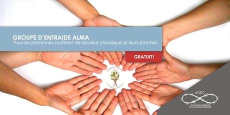 AQDC : Groupe d'entraide Alma : 10 octobre 2019 billets