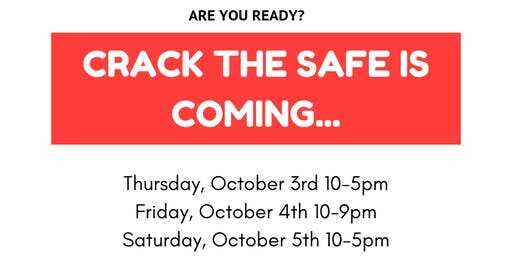 Crack the Safe Event 2019 - 25 prizes to be won!