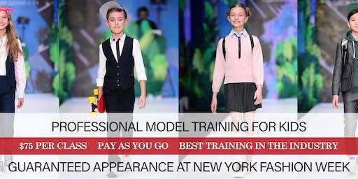 PROFESSIONAL FASHION MODEL TRAINING FOR KIDS