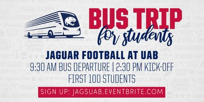 Student Bus for Jaguar Football @ UAB
