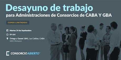 Desayuno de trabajo para Administraciones de consorcios de CABA y GBA entradas