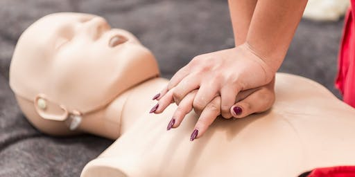 CPR Training and defibrillator demo