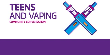Shady Grove YMCA Community Conversation: Teens and Vaping: Reports From the Ground of a Local High School tickets