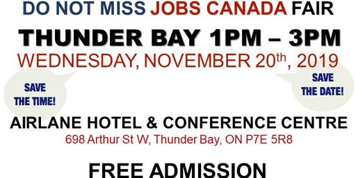 FREE: Thunder Bay Job Fair - November 20th, 2019