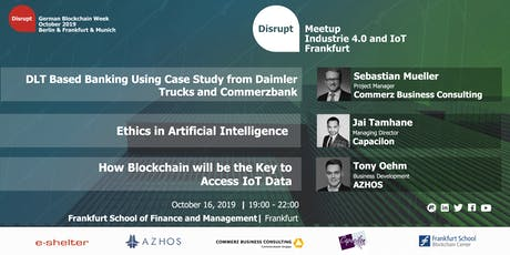 German Blockchain Week 2019 | IoT in Blockchain and AI Tickets