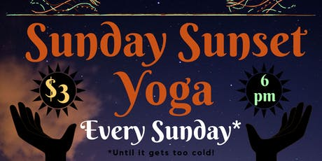 Sunday Sunset Yoga tickets