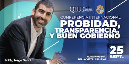 Conferencia Internacional: Probidad, Transparencia y Buen Gobierno