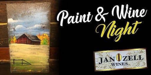 Jan Zell Wines Paint Event Barn on Slate