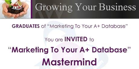 Marketing your A+ Database Class w/E.J. McKinney tickets
