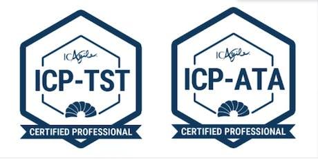 Agile Testing Intensive™ (ICP-TST / ICP-ATA) tickets
