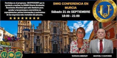 Te invitamos a nuestro evento de SWIG y STO CRYPTOUNIT en MURCIA entradas
