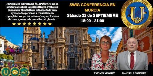 Te invitamos a nuestro evento de SWIG y STO CRYPTOUNIT en MURCIA
