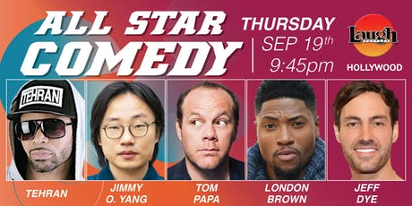Jimmy O. Yang, London Brown, and more -All-Star Comedy! tickets